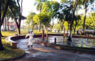 Ipatinga realiza desinfecção de áreas públicas