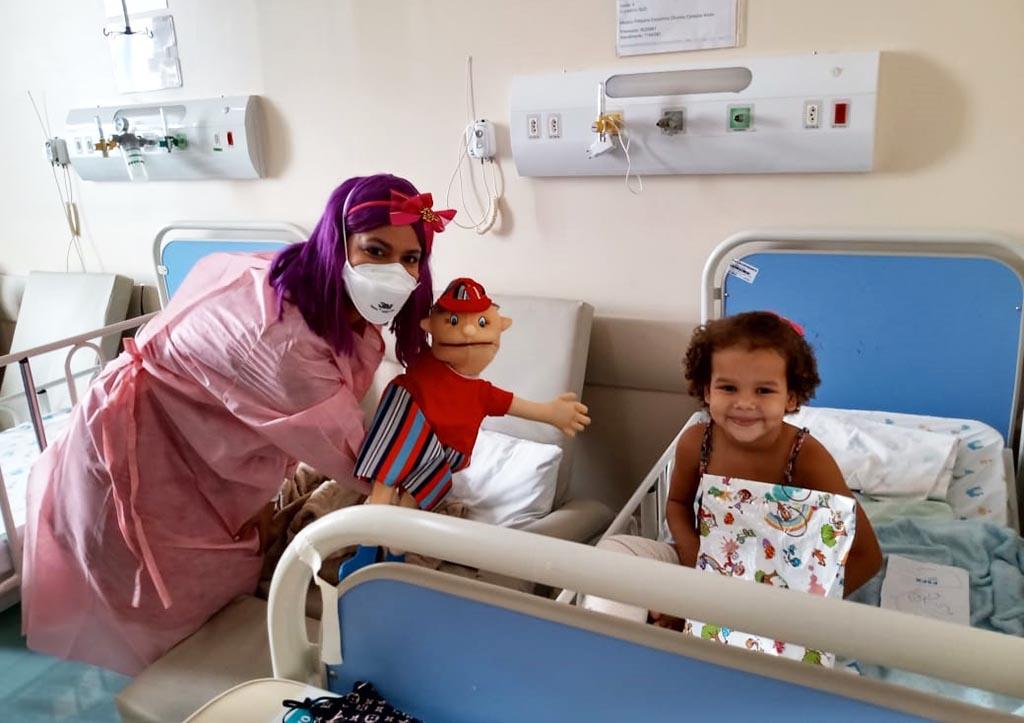Ação leva alegria para crianças em tratamento no Hospital Márcio Cunha