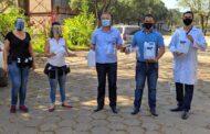 Saúde de Timóteo recebe protetores faciais e álcool gel doados pelo Cefet