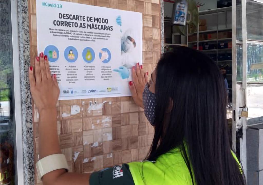 DNIT e Gestora Ambiental fazem campanha sobre descarte correto de máscaras