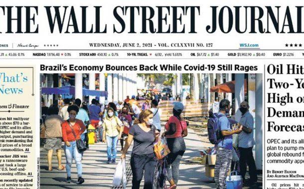 Brasil é capa do 'The Wall Street Journal' pela recuperação econômica